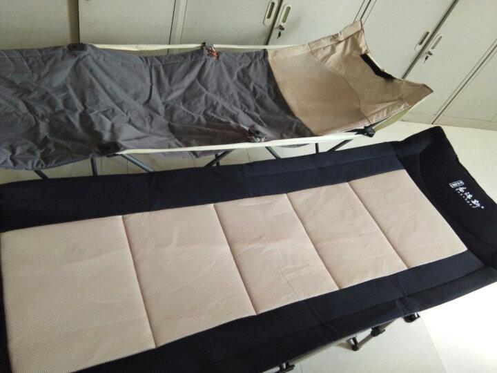 Easyrest 折叠床折叠躺椅办公室单人午休床午睡床户外行军床简易床陪护 3D加厚立体网面微翘195CM 晒单图