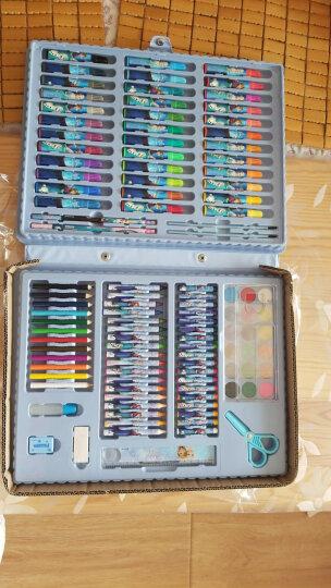 迪士尼(Disney)128件套水彩笔/彩色铅笔/蜡笔颜料绘画礼盒套装 E0034F 晒单图