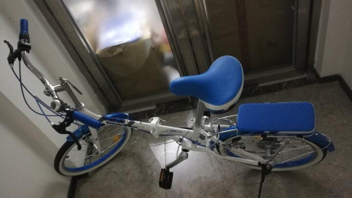 永久(FOREVER) 永久折叠车自行车 铝合金20寸7速/男女学生单车 雅途 蓝色 高配 20寸 晒单图