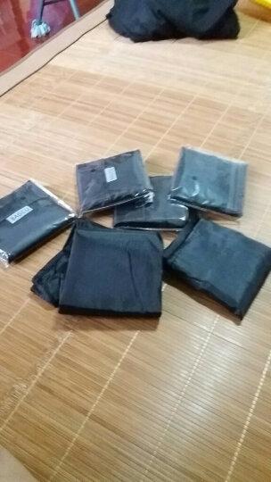 创意可折叠式宽口无纺布袋子手提袋购物袋 购物袋折叠 黑色 晒单图