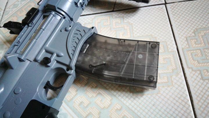 98K玩具枪 绝地求生吃鸡AWM M4下供弹儿童男孩手动可发射水晶枪生日仿真礼物水弹 98k+1万弾+色靶+平底锅+胶布+8倍镜 晒单图