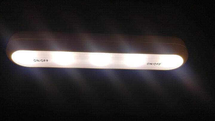 公创衣柜灯衣橱开关手压灯卫生间床头卧室壁橱柜创意节能led电池灯宿舍应急灯 升级版暖光1个含电池 晒单图