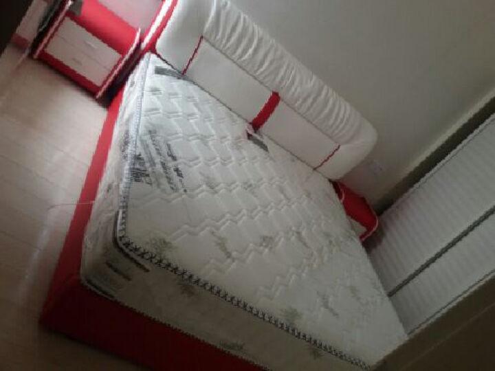 kay时代 皮床  三抽屉榻榻米 1.8米 真皮床 双人床 婚床 867 红+白--左边柜 1.8*2.0米+椰棕床垫+1柜 晒单图