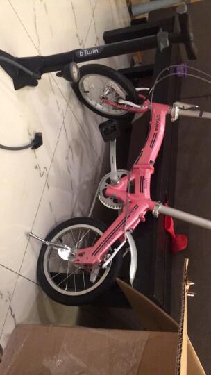 欧亚马 OYAMA折叠自行车14寸铝合金折叠车架男女款单车波浪-JR300 红色 晒单图
