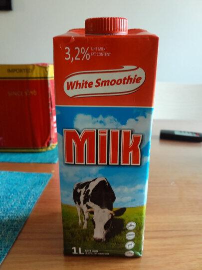 波兰 进口牛奶 优雅牧场(WHITE SMOOTHIE)超高温灭菌全脂牛奶1L*6普通装 晒单图