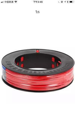 正泰(CHNT) 电线电缆 1.5平方 双色 100米单股铜照明电源线 晒单图