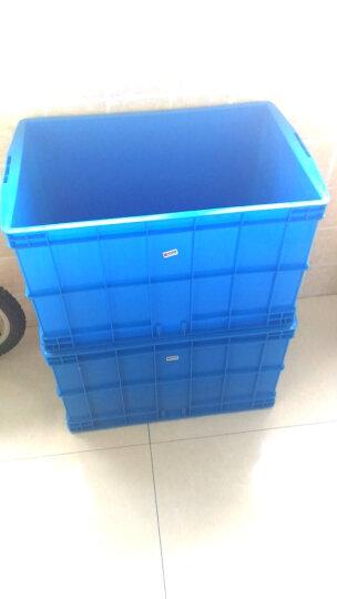 库达塑料周转箱物流周转箱小号大号超大号可带盖加厚塑料周转盒批发塑胶周转箱全新料 蓝色 400-200B箱 450×330×210mm 晒单图