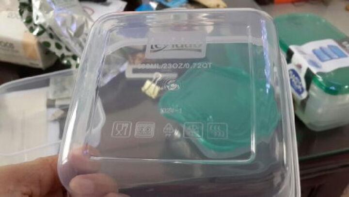 乐亿多保鲜盒套装微波加热饭盒便当盒收纳盒欢乐叠六件套 HLD310+305 晒单图