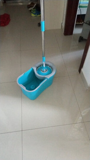 家杰 双驱动旋转拖把桶 免手洗拖布好神地拖墩布 双拖把头 清洁工具 JJ-A32 晒单图