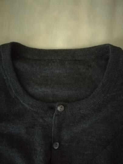 【限量二折】哥弟女装秋季新款针织衫女开衫长袖羊毛衫薄毛衣外套790003-1 深灰 S(2码) 晒单图