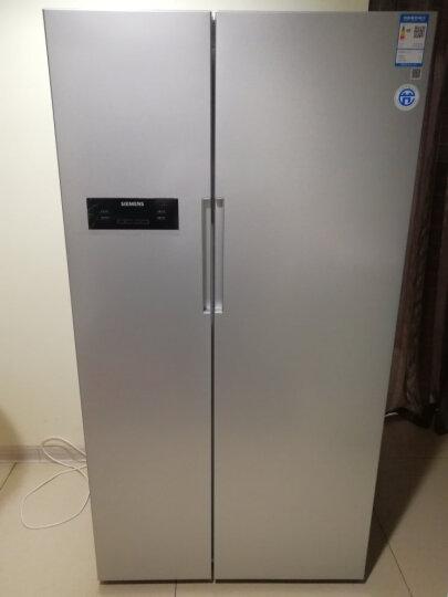 西门子(SIEMENS)610升 风冷无霜 对开门冰箱 LED显示 速冷速冻(银色)BCD-610W(KA92NV60TI) 晒单图
