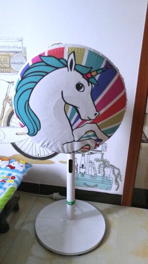 缤谷 电风扇罩布艺风扇防尘罩欧式卡通系列圆形全包风扇套通用 彩虹马 晒单图