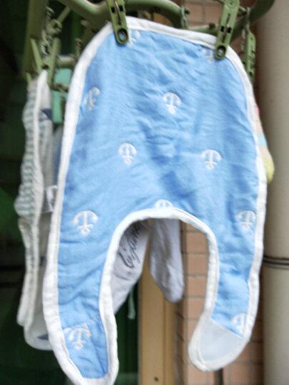 【京东送货】婴儿围嘴纯棉纱布饭兜宝宝罩衣防溅衣透气吸水口水巾围兜 U形围兜(三件套) 晒单图