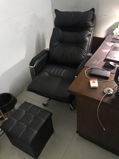 品仪 老板椅真皮 可躺办公椅子电脑椅家用转椅按摩大班椅座椅 卡其色(头层牛皮+乳胶坐垫+揉捏按摩) 晒单图