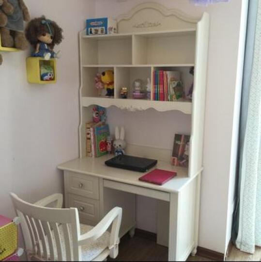鹏景雅居 欧式书桌 法式转角电脑桌写字台书架书柜组合学习桌 G71 书桌(实木桌脚) 1.0m直角 晒单图