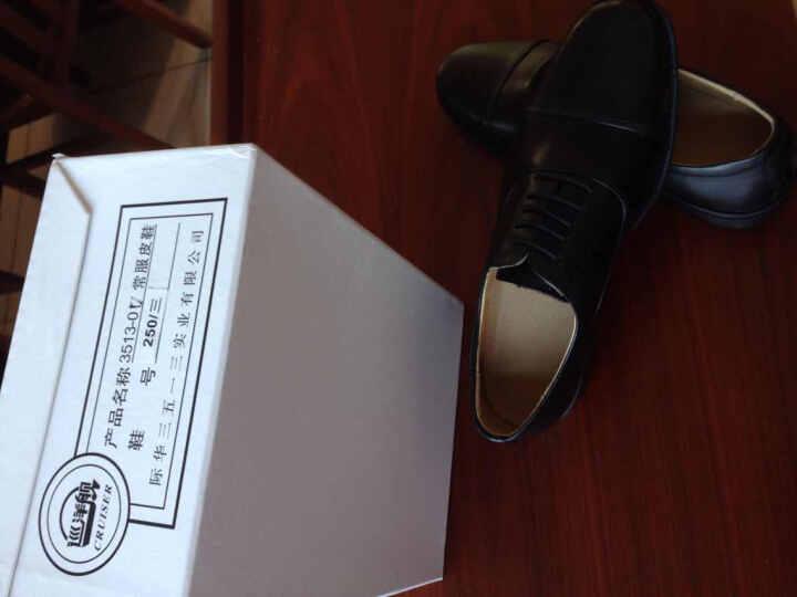 【校尉系列】3513巡洋舰男鞋三接头皮鞋男商务正装07制式校尉皮鞋军鞋 3513-07 黑色系带款 40 晒单图