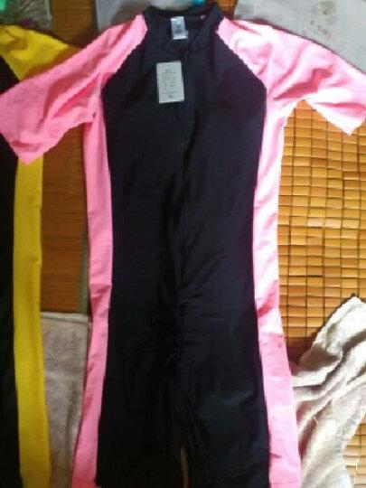 鲨巴特(SBART) 泳衣女连体潜水冲浪防晒修身保守短袖带胸垫泳衣 1362水蓝有胸垫 XXL 晒单图