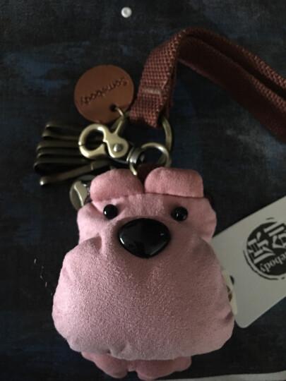 三色补丁创意可爱汽车钥匙包 囧囧熊钥匙扣钥匙挂件实用包包装饰 新版裸粉6个扣 晒单图