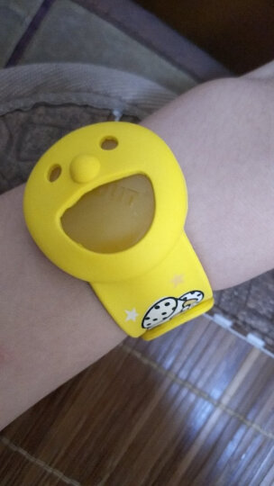 风语 笑脸啪啪圈驱蚊手环宝宝驱蚊手圈成人儿童通用驱蚊手环 柠檬黄赠替换模块2片 晒单图