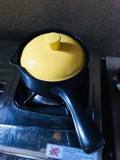 乐享 砂锅1300ml煮奶热奶不粘锅婴儿辅食锅泡面陶瓷小汤锅雪平锅 黄色 晒单图