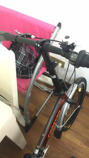 永久20寸铝合金折叠自行车 7级禧玛诺变速 禧玛诺飞轮 双碟刹 铝合金花鼓 男女式公路山地车F20 消光灰 晒单图