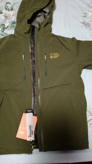 奥索卡(OZARK) OZARK/奥索卡男士户外防风防泼水弹力三合一冲锋衣 255276 青灰绿/158 M/170 晒单图