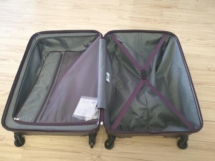 美旅拉杆箱 20英寸时尚登机箱 商务男女行李箱超轻万向轮旅行箱密码锁AX9深灰色 晒单图
