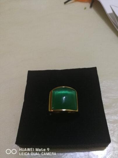 添百丽钛钢男士戒指 时尚霸气潮个性单身食指镀真金款 霸气戒指11号 晒单图