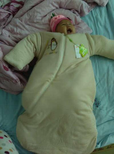 新生儿包被婴儿抱被棉初生宝宝用品被子春秋冬季加厚抱毯包巾 小萌猪黄 加厚可脱胆 晒单图