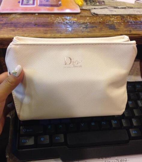 迪奥(Dior) 迪奥Dior 迪奥化妆包女 白色桶型化妆包 晒单图