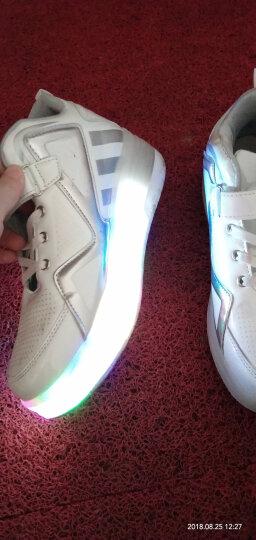 男女儿童暴走鞋双轮LED带灯款爆走鞋轱辘鞋单轮暴走鞋 8083单轮宝兰 36码23.1CM 晒单图