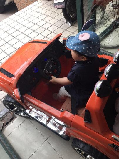 大可(dake) 儿童电动车四轮可坐 摇摆车 福特猛禽F150遥控汽车越野童车宝宝双座位玩具车可坐 标配烤漆蓝色+越野轮+12V7ah电瓶 晒单图