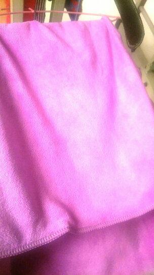 【9.9包邮】雅尔顿家纺 面巾加厚干发帽美容美发毛巾 吸水性强 超细纤维面巾 儿童婴儿毛巾 1条 浅紫色 晒单图