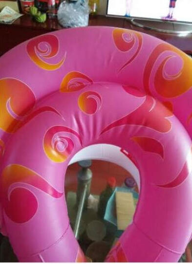 KASITE超弹款儿童/成人泳圈 加厚救生圈 背心式游泳圈 游泳装备 粉色L码 KY-02 晒单图