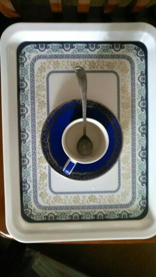 陶锦玉茶盘托盘塑料青花长方形烧烤水果盘干果盘蛋糕盘 大号青花茶盘 晒单图