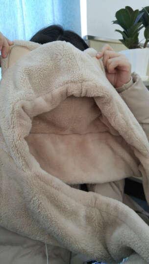Siggi 围巾女冬天韩版潮围脖可爱萌双层加厚帽子围巾手套一体 西瓜红(普通款) 约95*15CM 晒单图