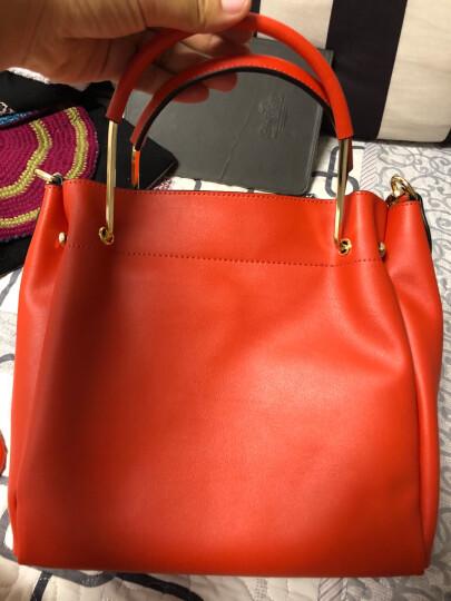 色非新款女包包手提包时尚单肩包斜挎包真皮AK-C005 黑色 晒单图