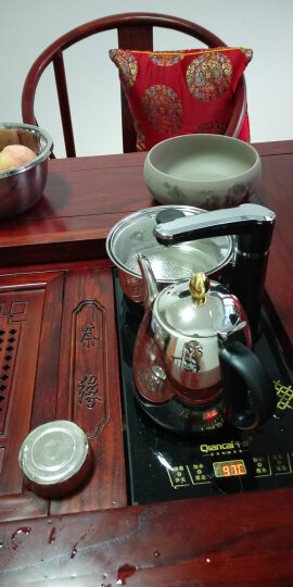 瓷牌茗粗陶特大号茶洗陶瓷青花瓷水洗碗杯笔洗玻璃茶杯碗水盂功夫茶具茶道配件栽种水植花盆果盆 莲蓬高白茶洗-中号(8寸) 晒单图