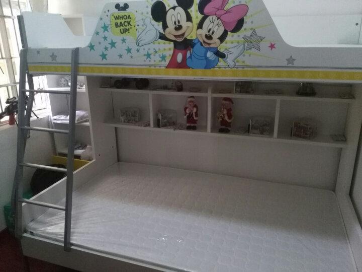 迪士尼高低床 上下床双层床上下铺 环保上下床双层床 汽车奔腾时代【上下床+挂梯】 仅1.35米高低床 晒单图