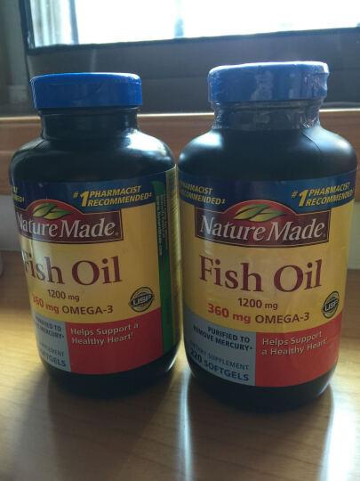 天维美(Nature Made)深海鱼油软胶囊220粒 进口鱼油 调节三高降血脂降血压保护 鱼油220粒 1瓶装 晒单图