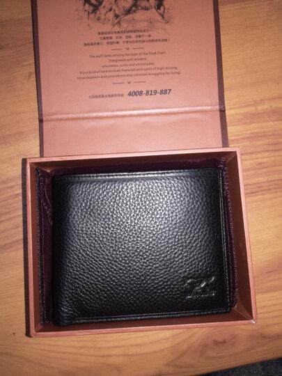 七匹狼(SEPTWOLVES)男士头层牛皮 横款钱包+驾驶证卡包卡夹 3A0634141-01黑色 晒单图