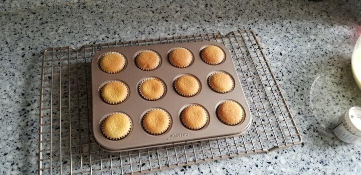 学厨 CHEF MADE 烘焙工具 蛋糕纸杯耐高温马芬纸杯烘焙工具白色金波点100只装WK9299 晒单图