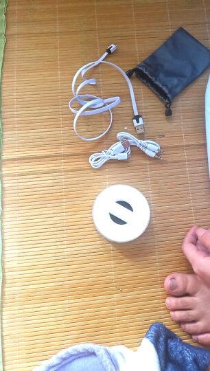 AHD无线蓝牙音箱迷你插卡音响便携户外重低音小钢炮 家用微信收款语音播报车用超长待机个性支持手机连接 普通款-白色 晒单图