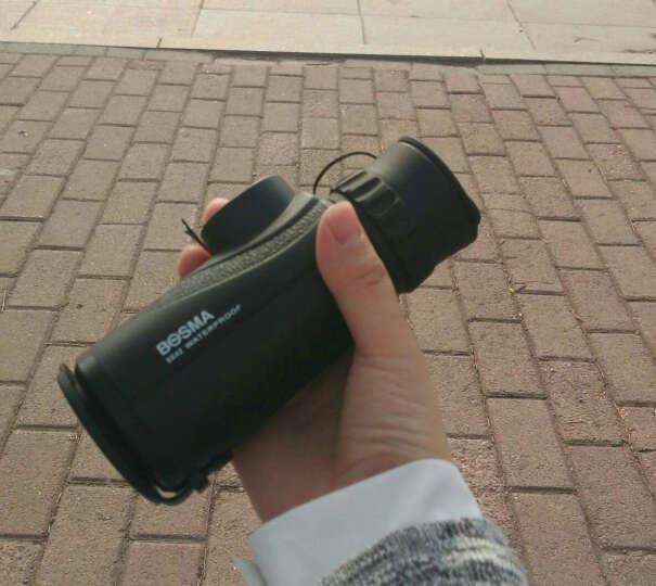 博冠BOSMA8X42单筒望远镜 户外 高倍高清 可接手机拍照 袖珍便携 非红外夜视望眼镜 黑色 晒单图