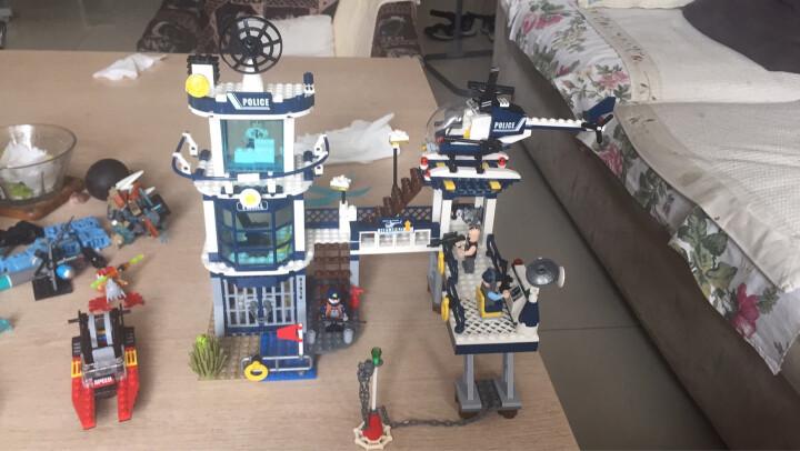 启蒙城市警察系列积木拼装玩具 男孩儿童益智拼插组装模型兼容乐高警察局小人仔 幽灵的行动1917 晒单图