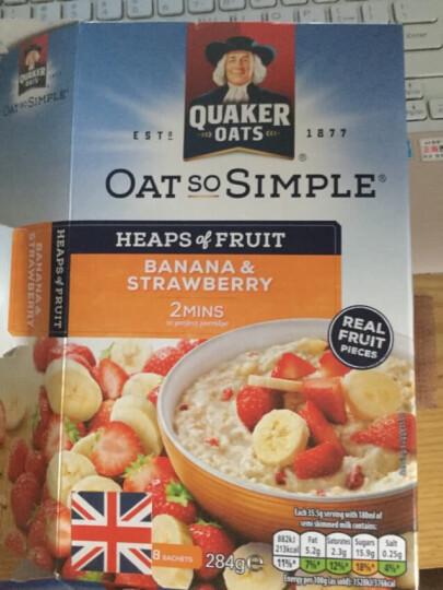 英国进口 桂格(QUAKER)草莓香蕉味水果多燕麦片 284g/盒代餐零食 晒单图