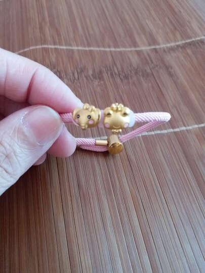 龍皇珠宝 3D硬金足金可爱烤漆蝴蝶结小象转运珠黄金小青蛙足金小兔子串珠 单个小象-金1g 晒单图