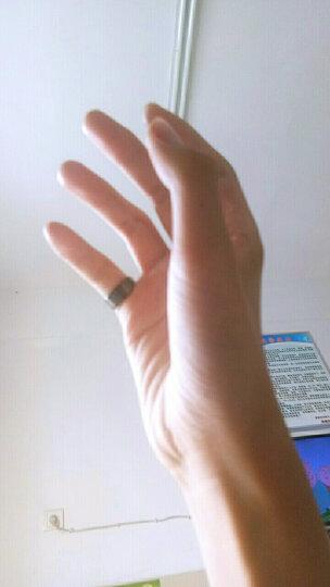 翼力黑色文十字架钛钢男士戒指食指中霸气男戒子韩版时尚指环 黑色 17码 晒单图