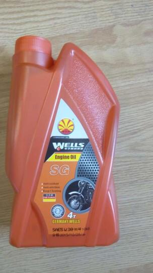 Wells韦尔斯润滑油 四冲程4T全合成摩托车机油 M600 SM级 1L 20W-50 晒单图