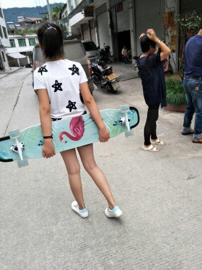 witess 长板滑板初学者青少年儿童专业四轮滑板车成人男女生公路刷街代步双翘舞板 【专业款和服少女】120厘米 晒单图